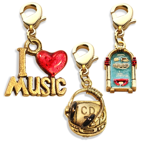 Music Lover Charm Bundle in Gold
