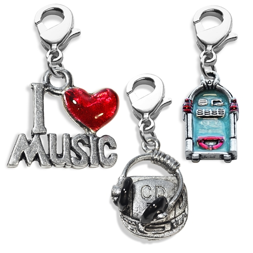 Music Lover Charm Bundle in Silver