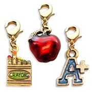 Teacher Charm Bundle in Gold