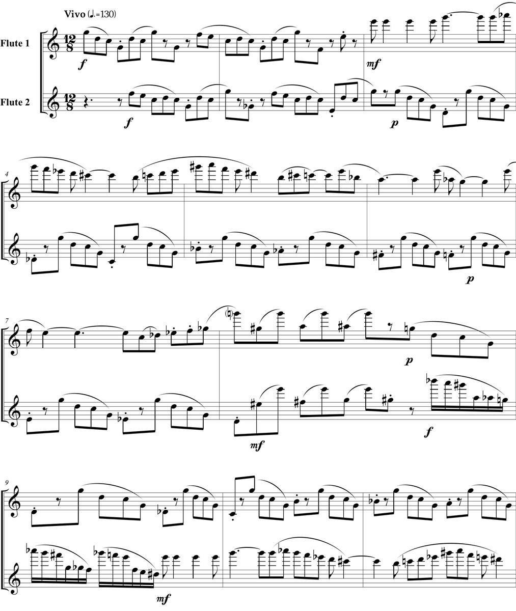 Five Duets, by Sadiel Cuentas