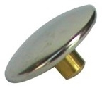 "Snap Fastener Cap/Button 1/4"" Long Barrel Stainless Steel"