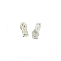 #4.5 Coil Zipper Single Pull Slides White