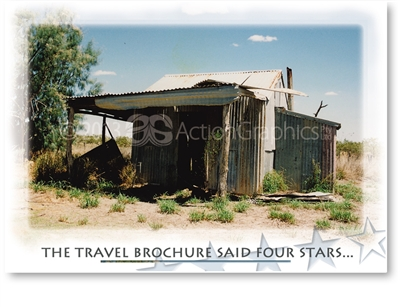 The Travel Brochure Said Four Stars - Standard Postcard 18-720