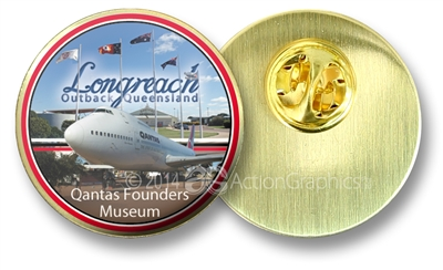 Qantas founders Museum - Hat Badge AG-LONHB-001