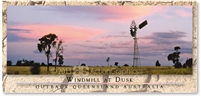 Windmill at Dusk - Panoramic Postcard  AOB-054-PP