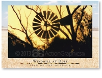 Windmill at Dusk - Large Postcard  AOBL-037