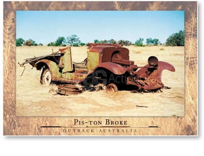 Pis-ton Broke - Large Postcard  AOBL-044