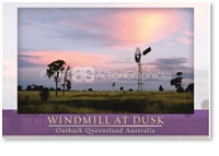Windmill at Dusk - Small Magnets  AOBM-127