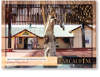 Tree of Knowledge & Railway Station - Standard Postcard  BAR-003