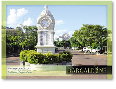 War Memorial Clock - Standard Postcard  BAR-005