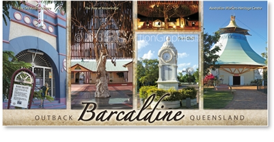 Barcaldine Outback Queensland - Panoramic Postcard  BAR-013-PP