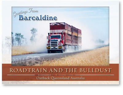 Roadtrain and The Bulldust - Standard Postcard  BAR-020