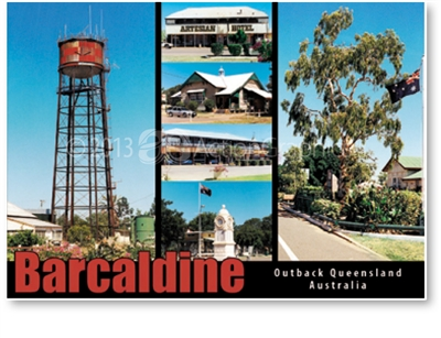 Barcaldine Outback Queensland Australia - DISCOUNTED Standard Postcard  BAR-226