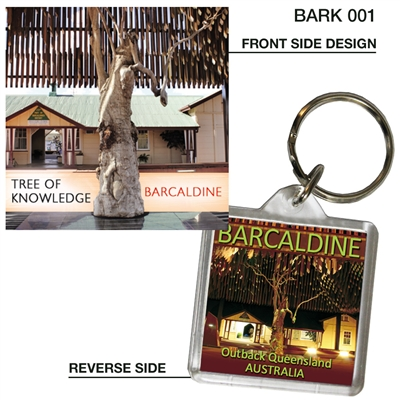 Tree of Knowledge - 40mm x 40mm Keyring  BARK-001