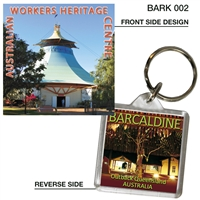 Worker's Heritage Centre - 40mm x 40mm Keyring  BARK-002