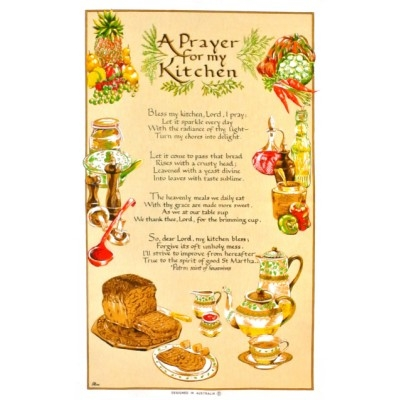 A KITCHEN PRAYER Cotton/Linen Tea Towel - C717