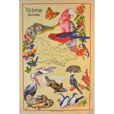 VICTORIA Cotton/Linen Tea Towel - C741