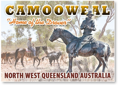Home of the Drover - Small Magnets  CAMM-007