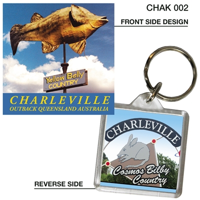 Yellow Belly Country - 40mm x 40mm Keyring  CHAK-002