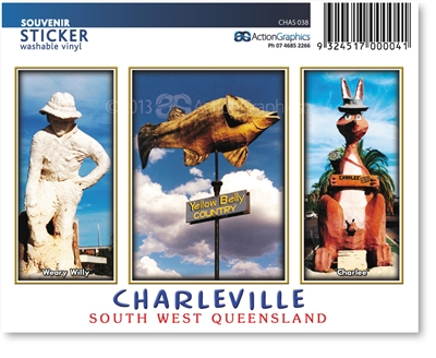Weary Willy/Yellow Belly Country/Charlee - Rectangular Sticker CHAS-038