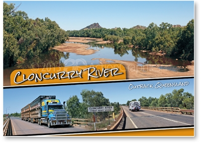 Cloncurry River, Outback Queensland - Standard Postcard CLO-004