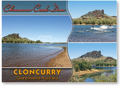 Cloncurry Chinaman Creek Dam - Standard Postcard  CLO-005