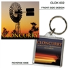 Cloncurry - 40mm x 40mm Keyring  CLOK-002