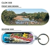 Cloncurry River - 66mm x 23mm Oblong Keyring  CLOK-008