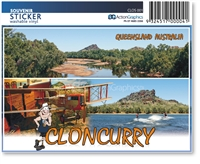 Cloncurry John Flynn Museum, River, Dam  - Rectangular Sticker  CLOS-001
