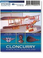 Cloncurry John Flynn Museum - Rectangular Sticker  CLOS-017
