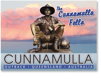 The Cunnamulla Fella - Large Magnets  CUNLM-001