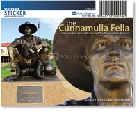 The Cunnamulla Fella - Rectangular Sticker CUNS-001