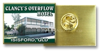 Clancy's Overflow Hotel - Hat Badge