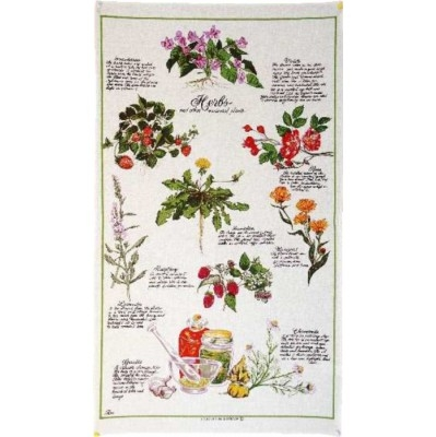 HERBS Cotton/Linen Tea Towel - FC203