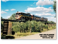The Gulflander - DISCOUNTED A4 Placemat GFCA-004