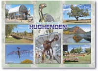 "Home of the ""Mutt"" Hughenden - Standard Postcard HUG-001"