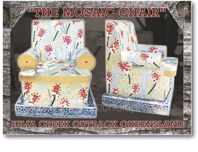 The Mosaic Chair - Standard Postcard JUL-002