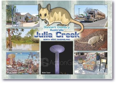 Dunnart Country Julia Creek - Standard Postcard JUL-003
