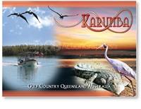 Karumba Collage - Standard Postcard  KAR-004