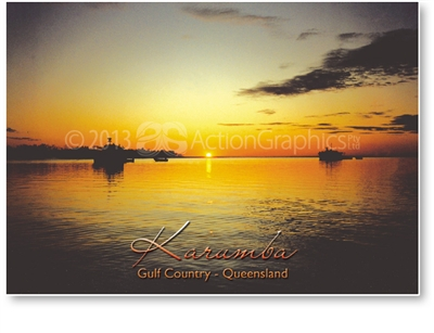 Sunset Over Gulf, Karumba - Standard Postcard  KAR-063