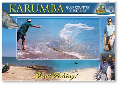 Karumba, Great Fishing - DISCOUNTED Standard Postcard  KAR-359