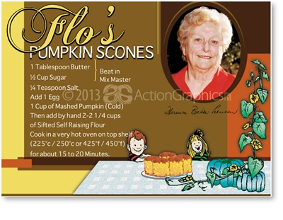Flo's Pumpkin Scones - Large Magnets  KINLM-118