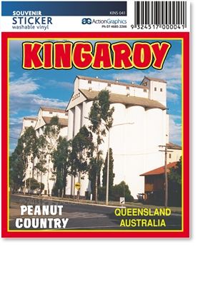 Kingaroy The Peanut Country - Rectangular Sticker KINS-041