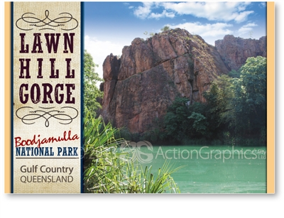 Lawn Hill Gorge, Boodjamulla National Park - Standard Postcard  LAW-002