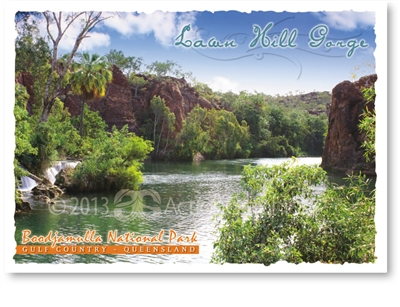 Lawn Hill Gorge, Boodjamulla National Park - Standard Postcard  LAW-003