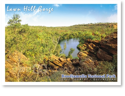 Lawn Hill Gorge, Boodjamulla National Park - Standard Postcard  LAW-004