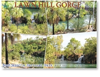 Lawn Hill Gorge, Boodjamulla National Park - Standard Postcard  LAW-006