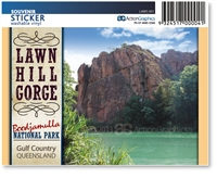 Lawn Hill Gorge, Boodjamulla National Park - Rectangular Sticker  LAWS-001