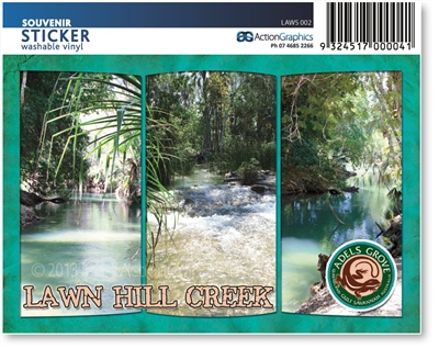 Lawn Hill Creek - Rectangular Sticker  LAWS-002
