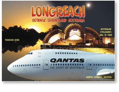 Hall of Fame, Qantas, River- Standard Postcard LON-002